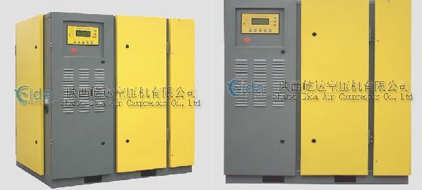 皮带风冷螺杆式空压机压缩机 KB-100A风冷皮带式螺杆空压机参数为:电动机功率:75KW,工作压力0.7Mpa,排气量13.5m³/min;工作压力0.8Mpa,排气量12.7m³/min;工作压力1.0Mpa,排气量11.3m³/min;工作压力1.2Mpa,排气量10.0m³/min,外观尺寸L*W*H:1766*1376*1710mm,重量:1980kg。