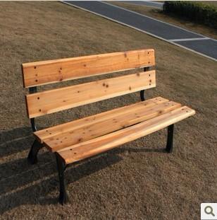 公园椅子/铸铁椅/休闲椅/户外桌椅 /小区椅/五根杉木公园椅/长椅
