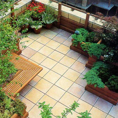 鄭州藍天屋頂綠化公司園林景觀,別墅庭院綠化設計施工