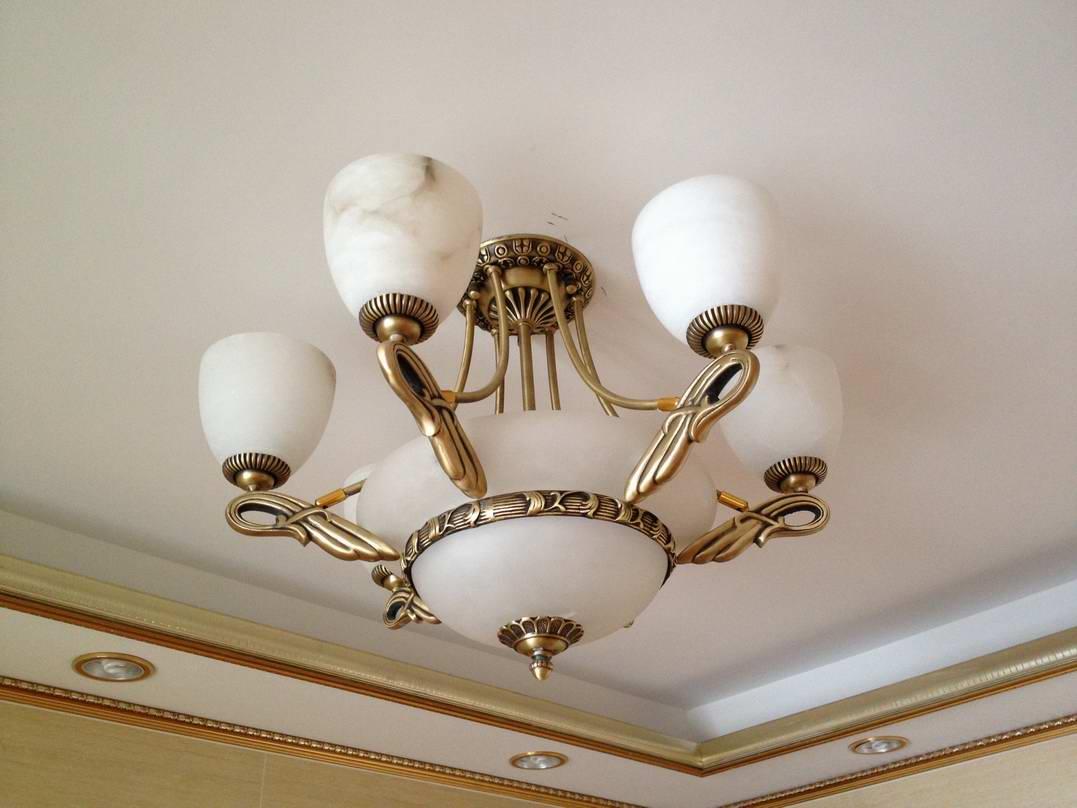 供应欧式全铜客厅餐厅西班牙云石吊灯